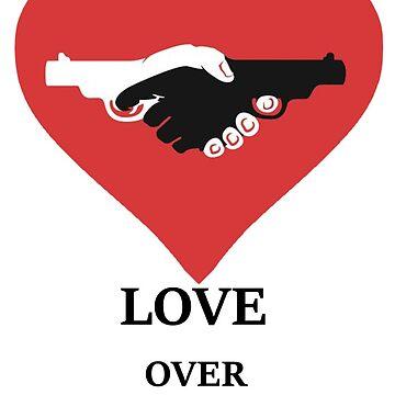Love I hate guns Heart Peace by GarciaPayan