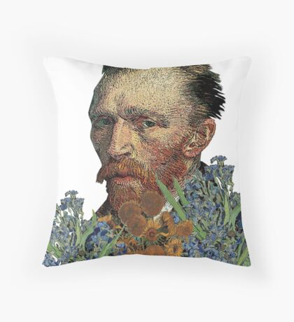 van Gogh Mashed Throw Pillow
