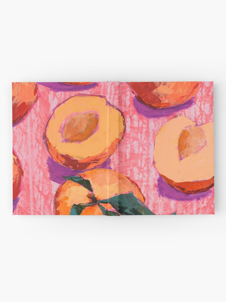 Alternate view of Peaches on Pink Background Hardcover Journal