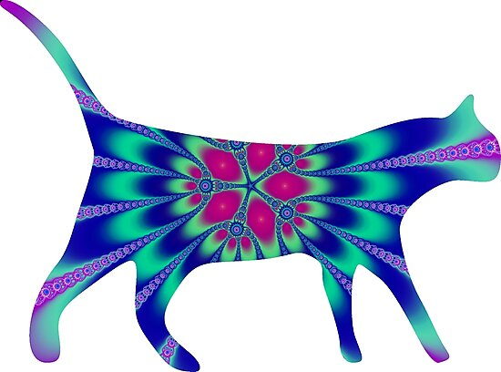 «Mandala Cat Trippy Fractal Feline Art» de ChaosEmporium