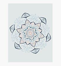 Jin Blue Mandala  Photographic Print