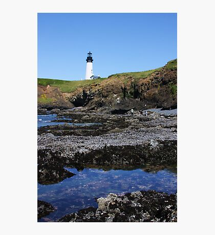 Tide Pools and Lighthouse Photographic Print
