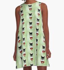 Tuxedo Cat Cartoon A-Line Dress