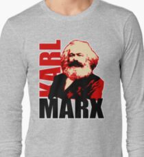 Communist Karl Marx Portrait Long Sleeve T-Shirt