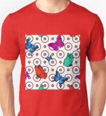 Butterfly Seamless Pattern. Background with Butterflies.  Unisex T-Shirt