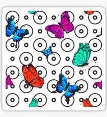 Butterfly Seamless Pattern. Background with Butterflies.  Sticker