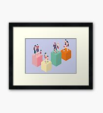 Isometric Infographic Family Types - LGBT included Framed Print