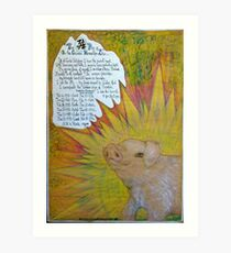 The Pig.;- Chinese Horoscopes, Your Year. Art Print