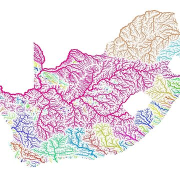 River basins of South Africa in rainbow colours by GrasshopperGeo