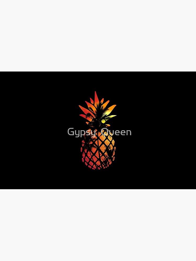 Tropical Sunset Pineapple by nomadartstudio