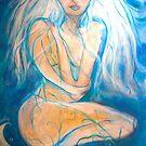 Blue mermaid by MarleyArt123