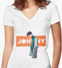 NCT 2018 JOHNNY Women's Fitted V-Neck T-Shirt