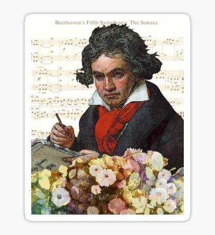 Ludwig von Beethoven Grunged III Sticker