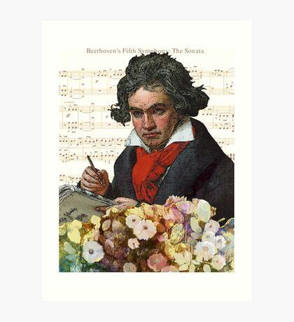 Ludwig von Beethoven Grunged III Art Print