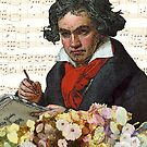 Ludwig von Beethoven Grunged III by DesignsByDebQ