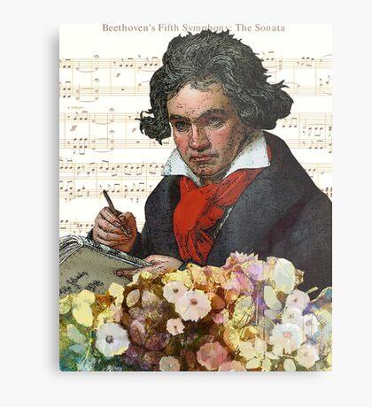Ludwig von Beethoven Grunged III Metal Print