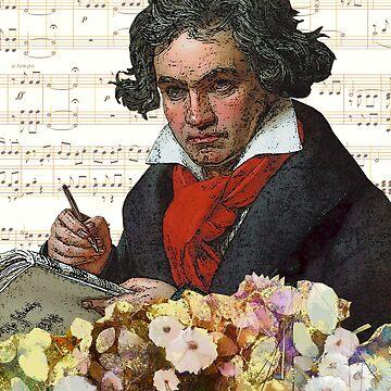 Ludwig von Beethoven Grunged III by DesignsByDebQ