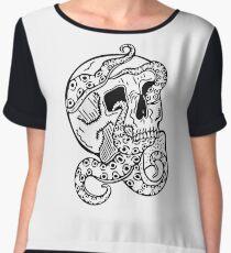 Tentacle Skull Chiffon Top