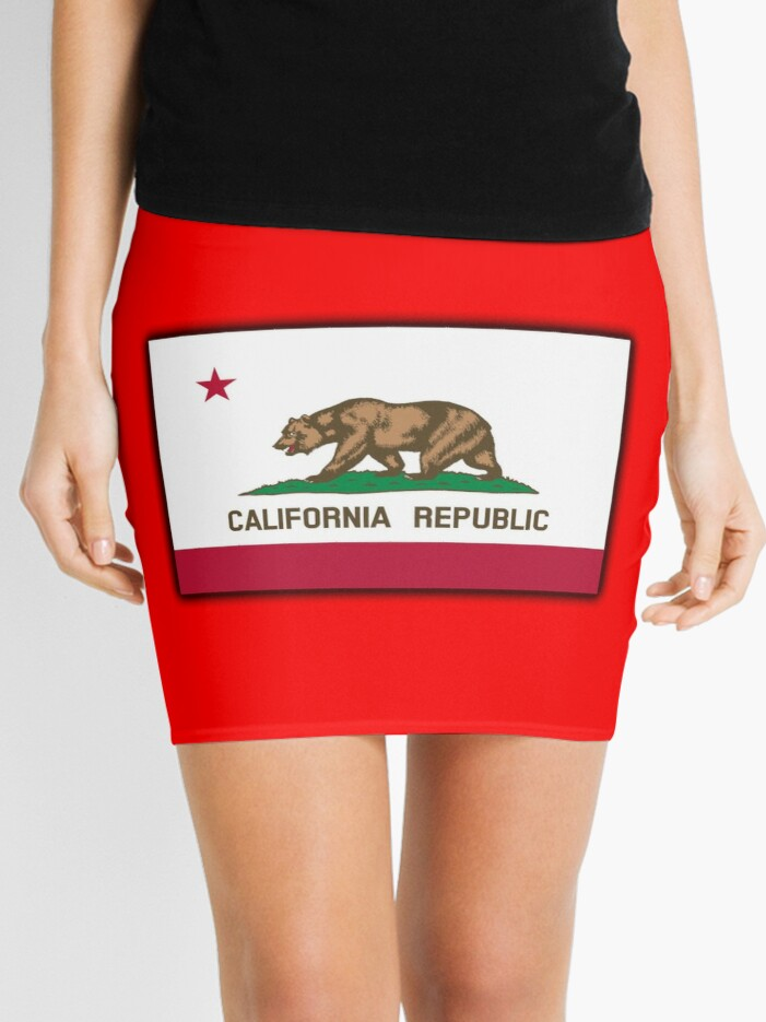4e5339d74c1a7 CALIFORNIA, Californian Flag, Flag of California, California Republic,  America, The Bear Flag, State flags of America, American, USA, ON RED    Mini ...