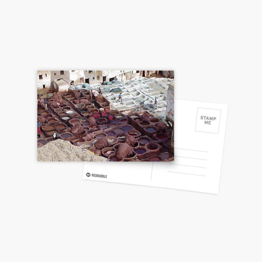 Tannerie à Fez 2 Postcard