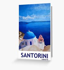 Santorini, Greece - View from Oia Greeting Card