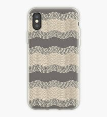 Wavy River III in Taupe Brown, Tan and Cream iPhone Case