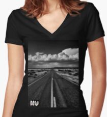 Never Let The Journey End...... Women's Fitted V-Neck T-Shirt