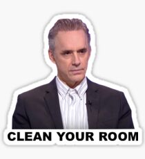 "Jordan Peterson ""Clean Your Room"" Sticker"