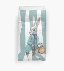 Follow the White Rabbit Duvet Cover