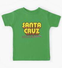 Santa Cruz, Kalifornien | Retro Streifen Kinder T-Shirt