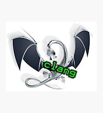 metal dragon of clang, a C language family frontend for LLVM Photographic Print