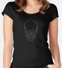 Geo Skull / Black Women's Fitted Scoop T-Shirt