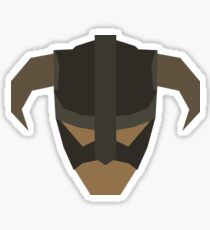 Skyrim Face Polygonal Design Sticker