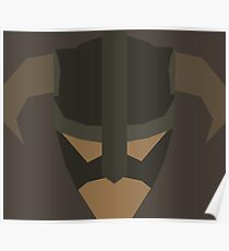 Skyrim Face Polygonal Design Poster