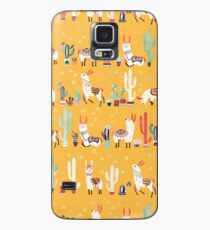 Happy llama with cactus in a pot Case/Skin for Samsung Galaxy