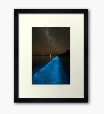 Bioluminescence under the Southern Sky Framed Print