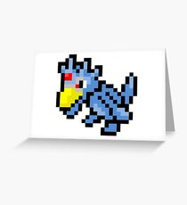 Pokemon 8-Bit Pixel Golduck 055 Greeting Card