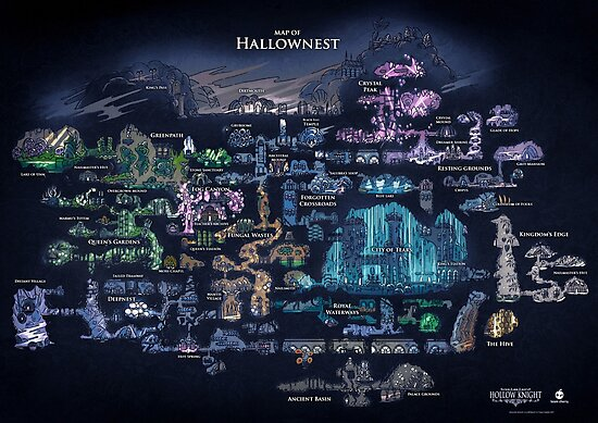 Hollow Knight Map Hollownest by ragsmaroon