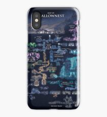 Hollow Knight Map Hollownest iPhone Case