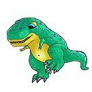 süßer mini dino rex grün von Florian  Gelbmann