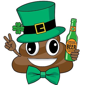 St. Patrick's Day Funny Leprechaun Poop Emoji by Humerus1
