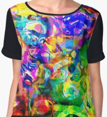 Psychedelic Abstract Chiffon Top