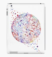 Earth circuit board, circuit ball, circuit board, circuit planet, computer science art iPad Case/Skin