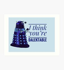 Doctor Who Dalek Valentine Art Print