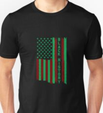Black history month African American Flag Unisex T-Shirt