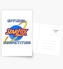 Star Fox Competition Tee Postcards