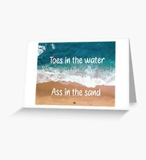 Toes in the Water Zac Brown Band Quote Poster Greeting Card