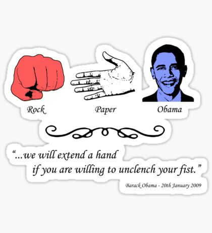 Rock, Paper...Obama Sticker