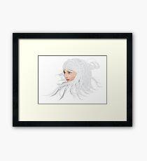 White hair girl 2 Framed Print
