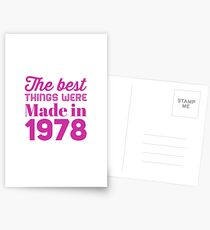 Made in 1978 Postcards